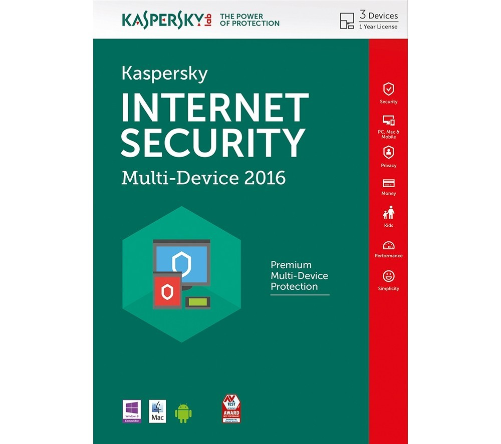 Kaspersky Internet Security - Antivirus för 3 användare