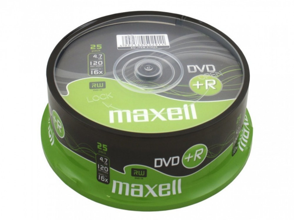 Maxell DVD+R 4.7GB 16X 25PACK
