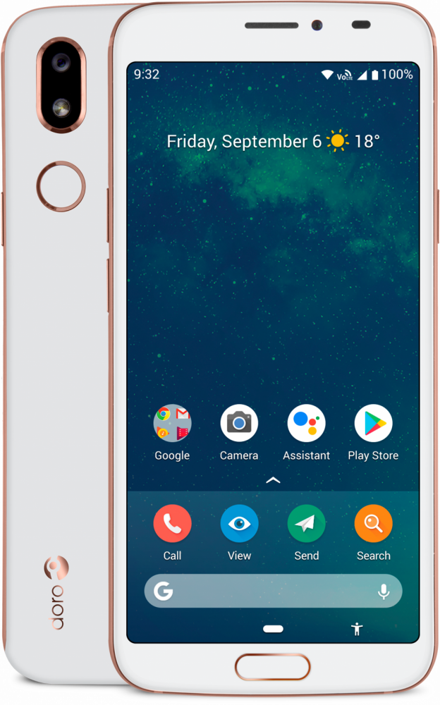 Doro 8080 smartphone (vit)