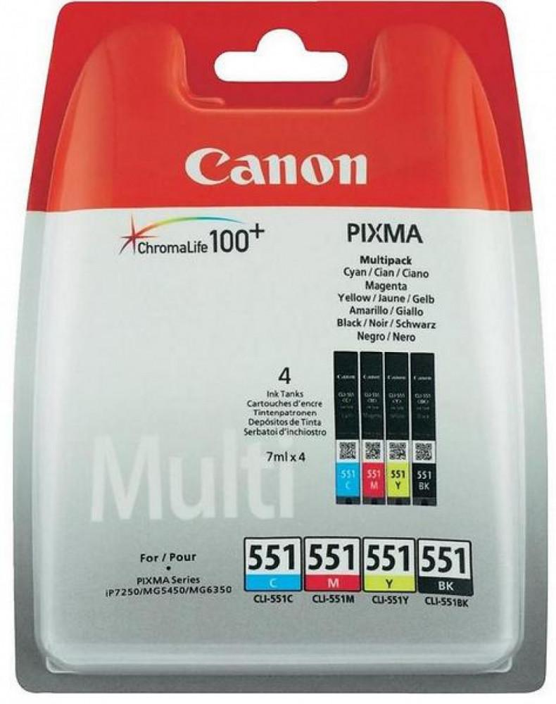 Canon Canon CLI-551 Bläckpatron 4-pack