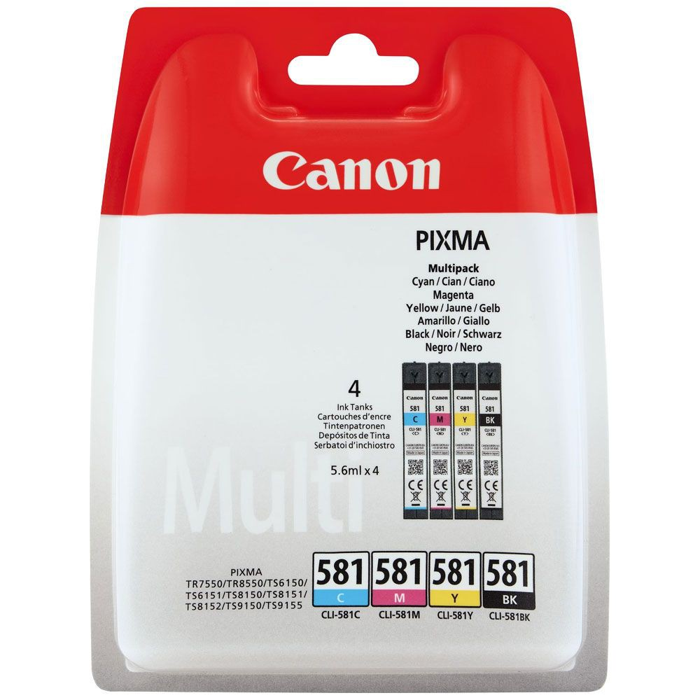 Canon CLI-581 4-färger Multipack