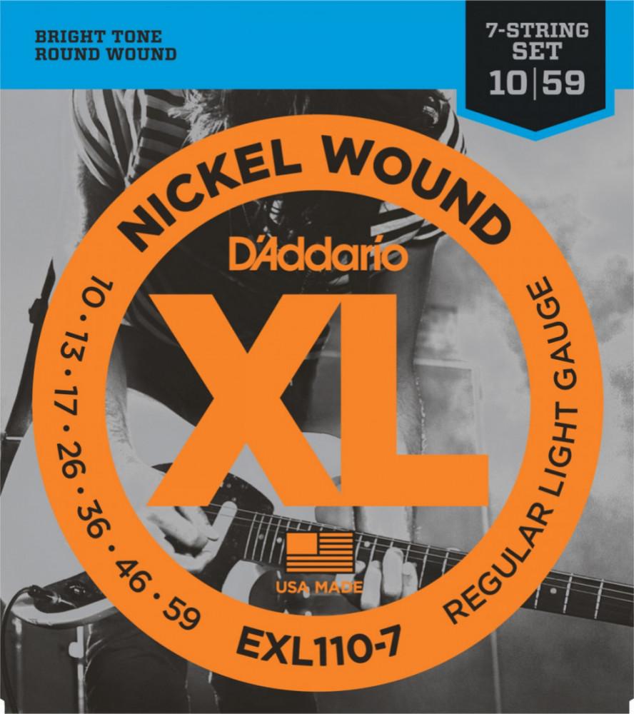 EXL110-7 Regular Light 7-string. XL Nickel Wound