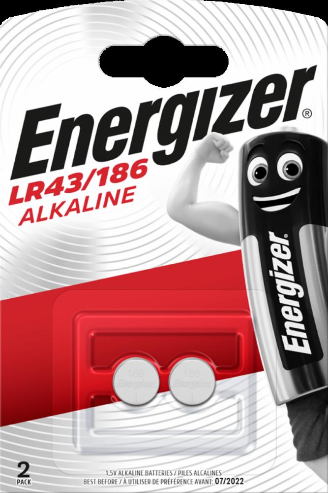 Alkaline LR43/186 2 pack