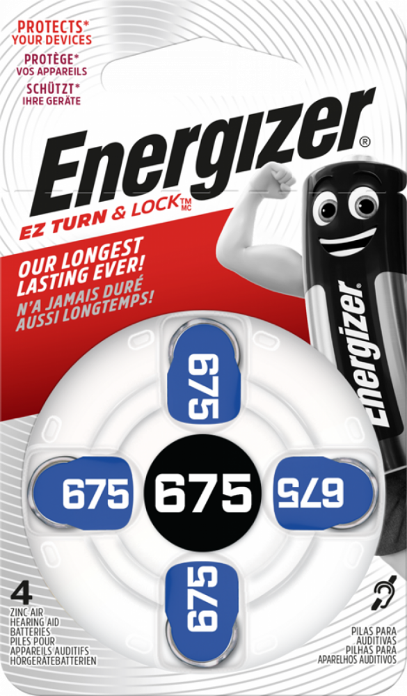 ENERGIZER ZINC AIR 675 4-pack